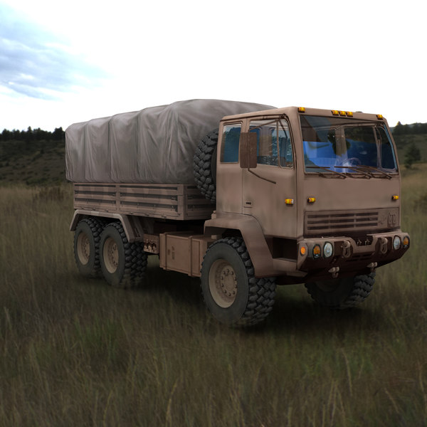 3d model of army truck desert