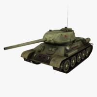 s t-34-85 3d max
