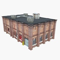 3ds max old factory building