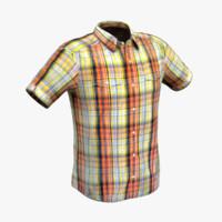 3d mens shirt model