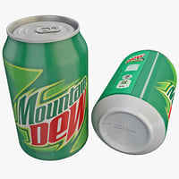 mountain dew 3d model