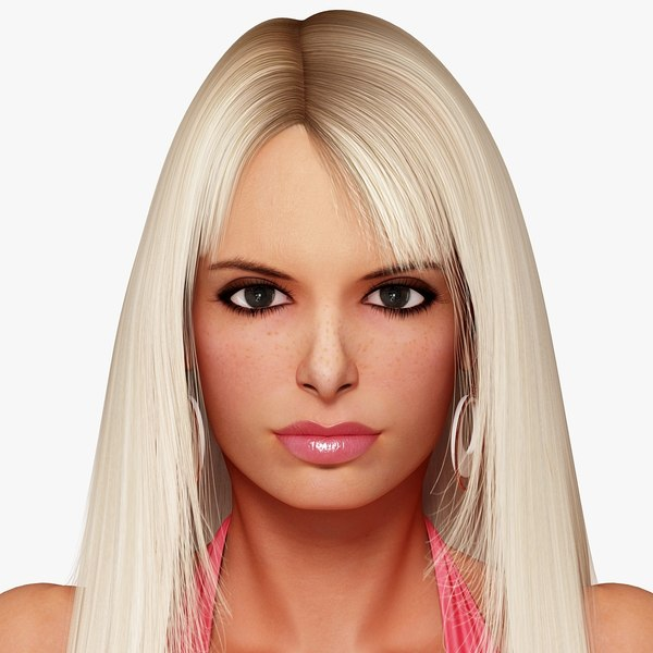 3d model of blonde - photo #8