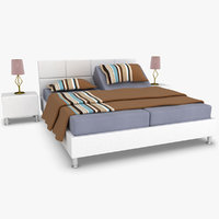 karina adjustable bed white 3d model