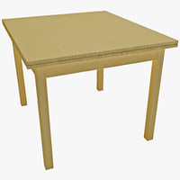3d carolina cottage refectory table model