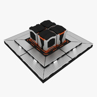 futuristic containers 3d model