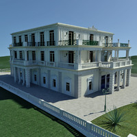 neo-classical palace 3d max