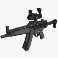 maya mp5 submachine gun