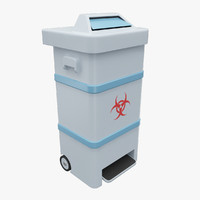 3d model bio waste trash bin