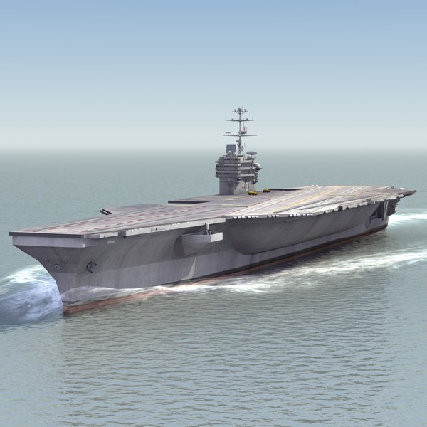 3d aircraft carrier s navy ships model
