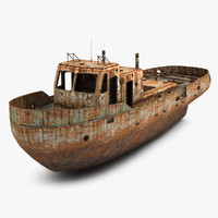 rusty boat 3ds