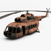 3d rusty helicopter