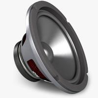 realistic speaker 3d obj