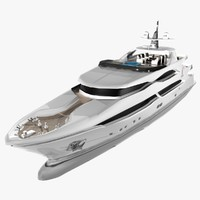 3d columbus 155 luxury yacht model