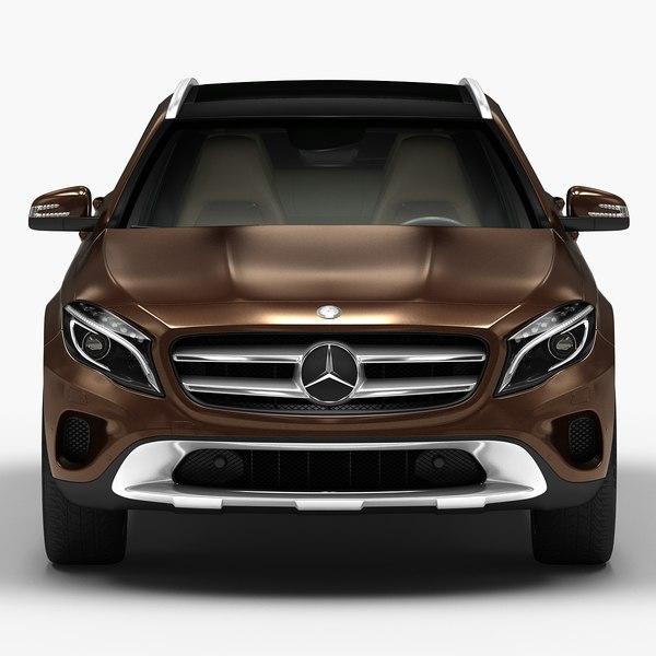2015 mercedes benz gla 3d model for Mercedes benz 2015 models