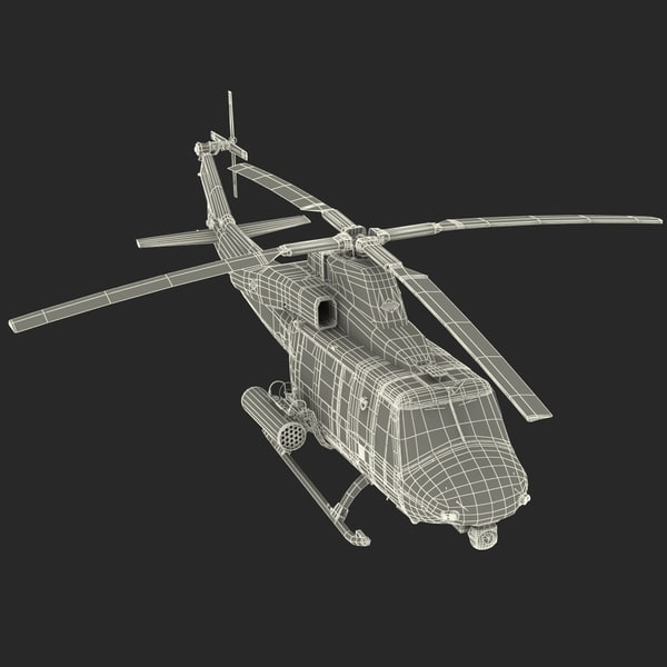 3d Model Of Bell Uh 1y Venom Helicopter