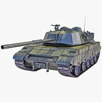 3d model al-zarrar pakistan main battle tank