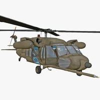 3d mh-60 black hawk rigged model