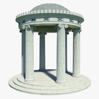 3d classical temple model