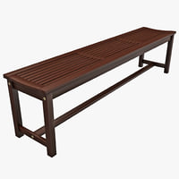 3d model of strathwood blakely bench