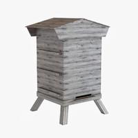 3d model beehive hive bee