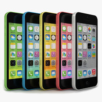 3d model apple iphone 5c colors