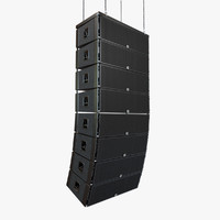 3d linear concert speakers model