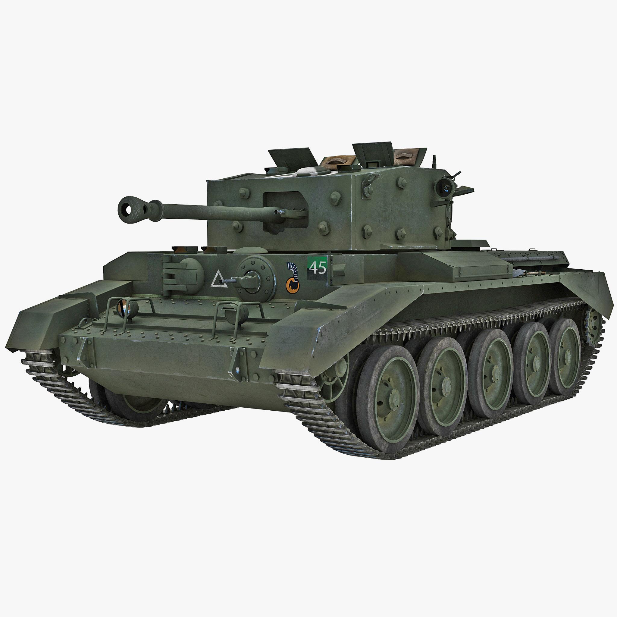 Britain Cruiser WWII Tank Mk VIII Cromwell Green_1.jpg