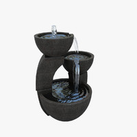 3d model of small fountain