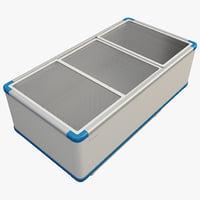 3d model supermarket island freezer
