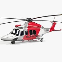 agustawestland aw139 helicopter 3d model