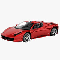 3d ferrari 458 italia spider model