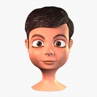 3d cartoon boy head model