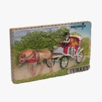 3d turkey magnet souvenir