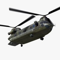 3d model raf hc4 chinook helicopter