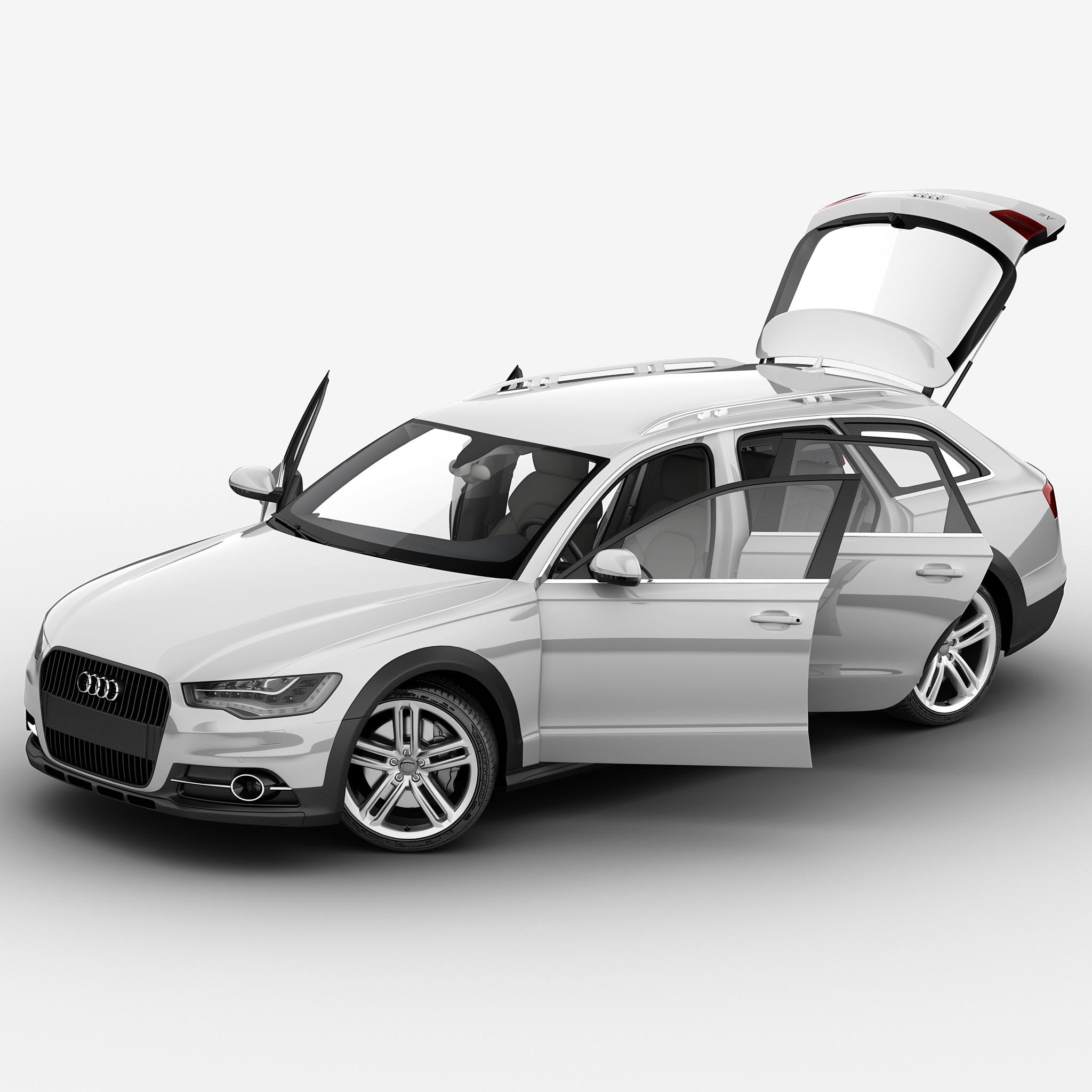 Audi A6 2013 Rigged Car 3d Max