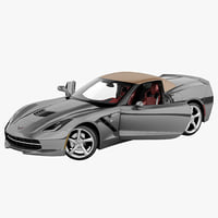 Chevrolet Corvette C7 Stingray Convertible 2014 Rigged