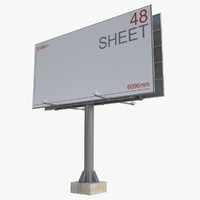 3d model billboard 48 sheet board