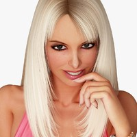 blonde woman character 3d model