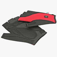 Short Finger Gloves De Marchi Red