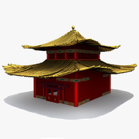 3d model chinese ming house