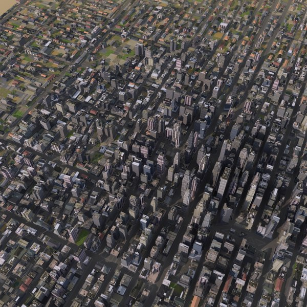 large cityscape 3d model