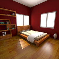maya bed room wood