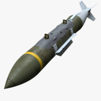3d gbu-31 v jdam bomb model
