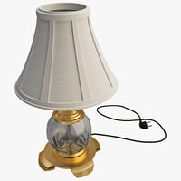 crystal accent table lamp 3d 3ds