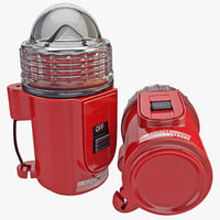 emergency strobe light 3d max