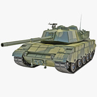 al-zarrar pakistan main battle tank 3d model