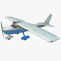 civil aircraft cessna t-51 3d model