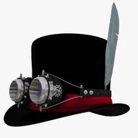 obj cylinder hat goggles
