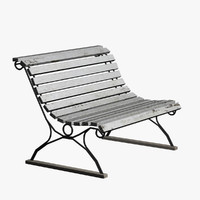 3ds max vintage garden bench