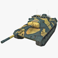 Leopard 1 Germany Main Battle Tank Rigged